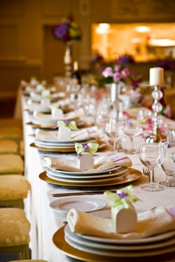 Wedding Table Decor Photograph by Benson Kua